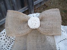 Burlap Pew Decorations, Burlap Pew Bows, Rustic Wedding, Country Wedding Decor