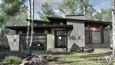 Plan de maison Ë_146 | Leguë Architecture