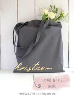 Personalised tote bags from Luna Harkin. perfect gifts for bridesmaids!   bridesmaidgift  bridesmaidproposal d281a585dadd8