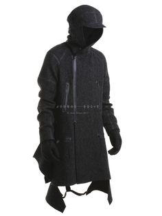 AITOR THROUP - Mongolia Riding Tweed Jacket - MONGOLIA RIDING JACKET BLACK - H. Lorenzo