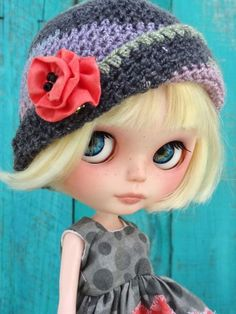 OOAK Custom Blythe doll - POPPY - with ooak outfit- by Marina