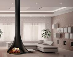 Fireplace and Stove Showroom near skipton on the Yorkshire - Lancashire Border. Suspended Fireplace, Wooden Fireplace, Home Fireplace, Fireplace Design, Fireplaces, Hanging Fireplace, Foyers, Wood Burner, Contemporary Style