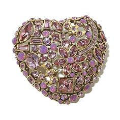 """Heidi Daus """"State of the Heart"""" Crystal Collage Pin"""