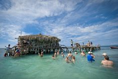 The floating Pelican Bar just may be Jamaica's coolest watering hole, accessible only by b...