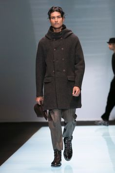 Giorgio Armani's Fall 2016 men's wear collection.