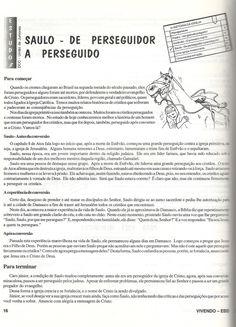 CANTINHO DAS HISTÓRIAS BÍBLICAS: APOSTOLO PAULO