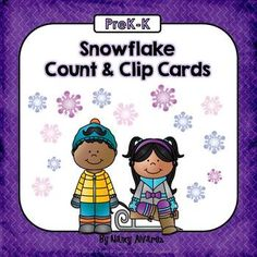 Welcome+to+Teaching+with+Nancy!+These+winter+themed+snowflake+count+and+clip+activity+cards+will+give+your+students+practice+with+counting+and+cardinality.++Students+must+count+the+snowflakes+then+choose+the+corresponding+number+from+a+field+of+four.++Includes+10+clip+cards.