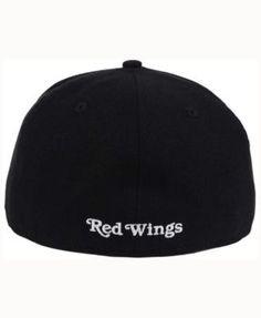 New Era Detroit Red Wings Black Dub 59FIFTY Cap - Black 7 3/4