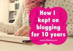 How I kept blogging