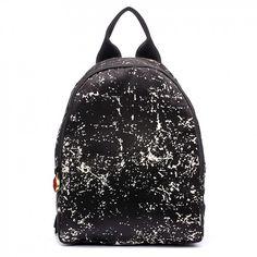 Lulu Guinness Floor Print Satin Backpack
