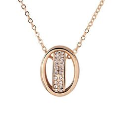 This necklace is magnificent. With double rings and crystal studded…