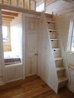 Tiny Functional Homes House Stairs Functional Homes Tiny Tiny House Living Room Functional Homes House stairs Tiny Tiny House Stairs, Tiny House Loft, Best Tiny House, Tiny House Design, Tiny Houses, Small House Living, Living Room, 3d Home, Tiny House Bathroom