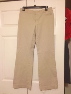 Banana Republic size 4 khakis. Thick fabric. I shortened them to fit me. Ask if you want measurements. $20 shipped
