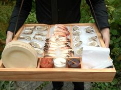 Walking Raw Bar by Peter Callahan Catering - This is such a cool idea for Catering Display, Catering Food, Catering Events, Catering Ideas, Catering Services, Wedding Reception Food, Wedding Catering, Unique Wedding Food, Tapas