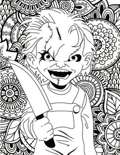 Scary Halloween Coloring Pages . 30 Scary Halloween Coloring Pages . 41 Fresh Free Printable Horror Coloring Pages Scary Halloween Coloring Pages, Scary Coloring Pages, Halloween Coloring Pictures, Halloween Coloring Pages Printable, Free Kids Coloring Pages, Skull Coloring Pages, Pumpkin Coloring Pages, Animal Coloring Pages, Coloring Books