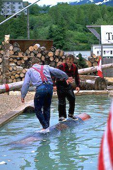 Great Alaskan Lumberjack Show Log Rolling Ketchikan Alaska Image