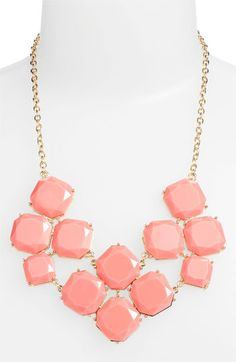 Stephan & Co. Stone Statement Necklace available at #Nordstrom  - also available in turquoise