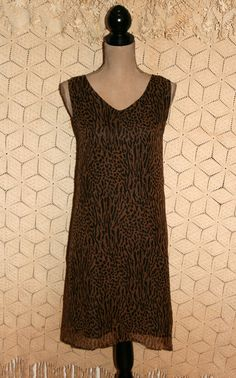 Silk Dress Sleeveless Dress Animal Print Dress by MagpieandOtis