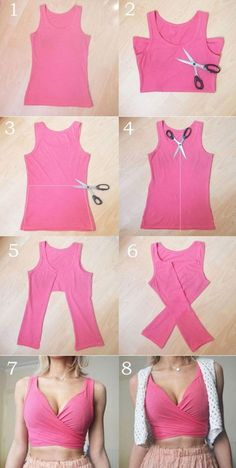 These DIY tops are sweeter than the sweetest summer dresses - D .- Diese DIY-Tops sind süßer als die süßesten Sommerkleider – Diyprojectgardens.club These DIY tops are sweeter than the cutest summer dresses - Diy Crop Top, Crop Tops, Tank Tops, Tops Diy, Diy Tops For Women, Diy Clothes Tops, Diy Summer Clothes, Diy Your Clothes, Revamp Clothes