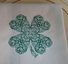 Intricate Shamrock St. Patrick's Cotton by TheBridesHopeChest, $10.00