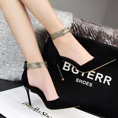 Bachelorette party, big date, wedding or just a night out, these Ankle Straps High Heels Shoes will make you feel confident and sexy while completing a great outfit! Gender: Women Item Type: Pumps Sho