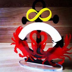 #Maryland #Crab #Wedding Cake Topper - #ChesapeakeBride #Infinity