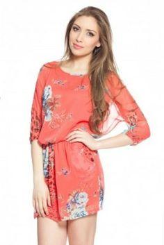 Rochie inflorata corai AZUCENA Dresses, Fashion, Vestidos, Moda, Fashion Styles, Dress, Fashion Illustrations, Gown, Outfits