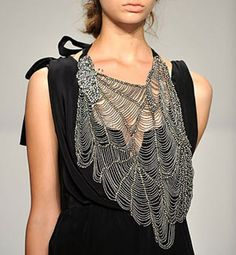 Necklace | Vera Wang summer 2010 collection dragonly wing / spider web necklace