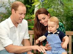 Prince William With Kate Middleton & Prince George