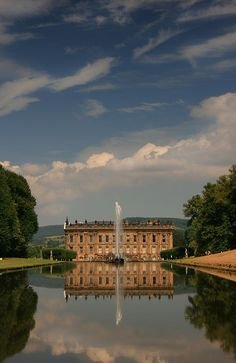 Chatsworth House, Derbyshire, England. (Filming location of Pemberley in Pride and Prejudice)