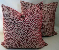 20 Square Cushion Cover VELVET SPOT / LEOPARD in by MoGirlDesigns,