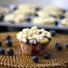 Chocolate Therapy: Bakery-Style Lemon Blueberry Muffins