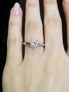 Used Engagement Rings, Princess Cut Rings, Princess Cut Engagement Rings, Beautiful Engagement Rings, Rose Gold Engagement Ring, Ring Verlobung, Moissanite, Luxury Fashion, Square Wedding Rings