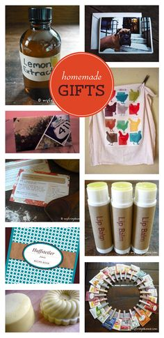 Loads of homemade gift ideas from MyFrugalHome.com.
