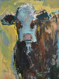 Recent obsession with cow paintings—specifically abstracts with a touch of bright colors.