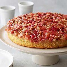 Flourless Rhubarb-Almond Upside-Down Cake
