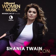 Shania Twain will receive Billboard's ICON award this year at their Women in Music ceremony.