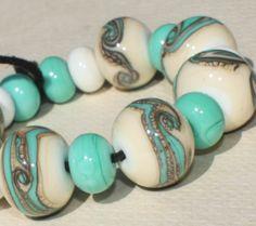 Lampwork Glass Beads Set of 17  12 mm x 16 от GlassNatalyaDarlin