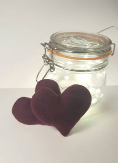 Reusable Hand Warmers.Heart Warmer.Winter Accessory. Rice Hand Warmers. Set of Two. Made in the UK. Made in Britain.Stocking Filler.Lavender
