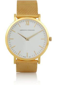 Shop now: Larsson & Jennings Gold Watch