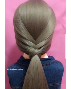 Elegant Hairstyle Idea for Long Hair – Frisuren Easy Hairstyles For Long Hair, Braids For Long Hair, Elegant Hairstyles, Cute Hairstyles, Braided Hairstyles, Hairstyles Videos, Wedding Hairstyles, Braids Easy, Anime Hairstyles