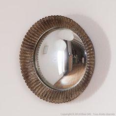 Miroir oeil de sorci re rond convexe en m tal athezza for Se voir dans un miroir