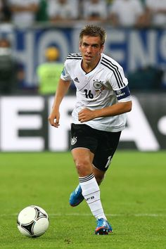 Philipp Lahm of Germany runs with the ball during the UEFA EURO 2012 group B match between Germany and Portugal at Arena Lviv on June 9, 2012 in L'viv, Ukraine. Description from zimbio.com. I searched for this on bing.com/images