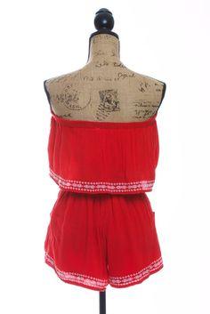 Sadie Red Shorts