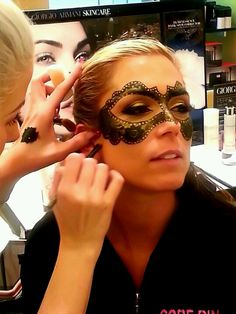Painted masquerade mask