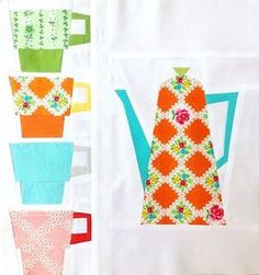 Parisienne Cafe Paper Piecing from Sew Take a Hike