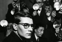 T oday would have been Yves Saint Laurent 's birthday. I don't like to think of these photos as a look back because Yves Saint Laurent is . Saint Laurent Paris, St Laurent, Christian Dior, Happy 75th Birthday, French Fashion Designers, Beautiful Mind, Fashion Quotes, The Magicians, Portrait Photography