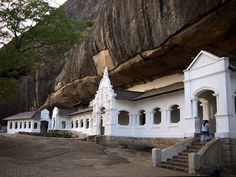 Dambulla Rock (Sri Lanka). 'A place of worship for many Buddhists, the Dambulla rock bears a temple at the foot of the hill as well as one at the top. The temple at the summit has some truly great paintings dating from the 19th century, a contrast from the modern-day painting at the new temple below.' http://www.lonelyplanet.com/sri-lanka/the-ancient-cities/dambulla