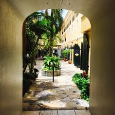 Really like this photo of how the doorway frames the alley by nancyannkurczaba