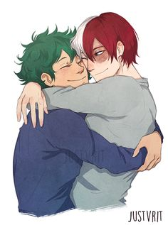 Vale Fdez в Твиттере: «Tight Hugs 2!! Goes with the Kacchako one I made a while back #bnha #mha #tododeku… »